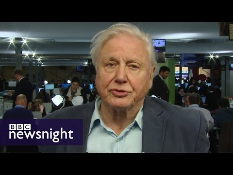 Sir David Attenborough on climate change, COP21 and harnessing the sun's energy - Newsnight