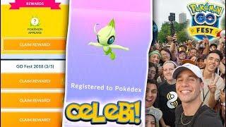 I CAUGHT CELEBI IN POKÉMON GO! NEW MYTHICAL CELEBI Special Research at Pokémon GO Fest 2018!