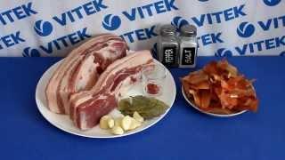Рецепт приготовления свиной грудинки в луковой шелухе в мультиварке VITEK VT-4216 CM