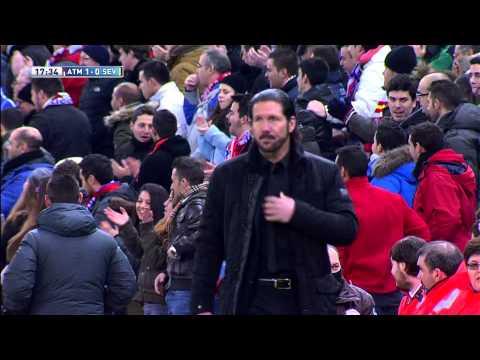 Gol de Villa (1-0) en el Atlético de Madrid - Sevilla FC - HD