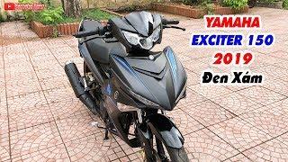 Yamaha Exciter 150 2019 Đen Xám ▶ Cận cảnh chiếc xe tem đổi màu theo ánh sáng!