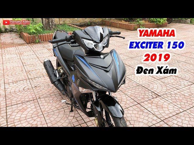 Yamaha Exciter 150 2019 ?en Xám ? C?n c?nh chi?c xe tem ??i màu theo ánh sáng!