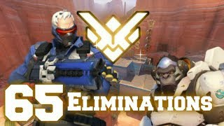 Grand Master Overwatch w/ Soldier 76 (57% Kill Participation) Feat. KyKy