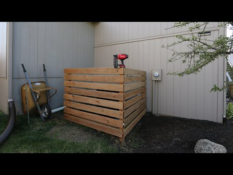 Cool DIY Wood Panel Air Conditioner Cover