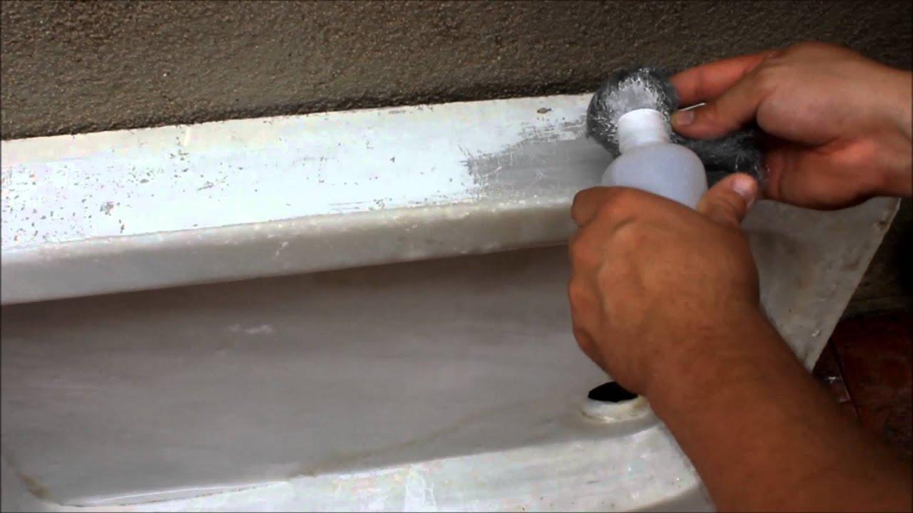 Restauraci n de un viejo fregadero de marmol youtube - Fregadero marmol ...