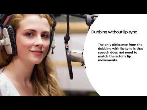 Professional video localization: voice-over and dubbing