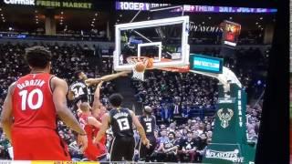 Giannis Antetokounmpo Crazy Block   Bucks vs Raptors   2017 NBA Playoffs