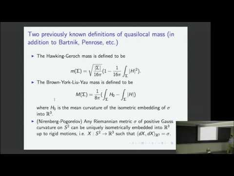 Quasi local conserved quantities in general relativity | Mu Tao Wang