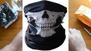 Распаковка мотоциклетных масок с принтом черепа Ali Express