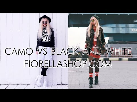 How to style: Camo | How to style: Black and White