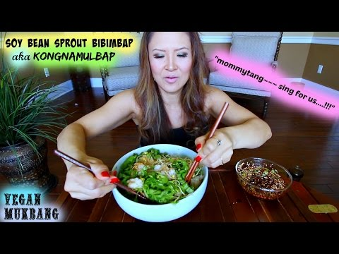 HOMEMADE SOYBEAN SPROUT RICE • Mukbang & Recipe