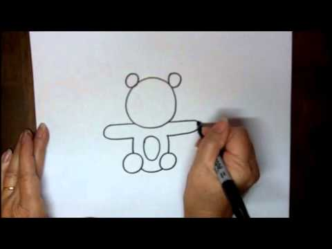 How To Draw A Teddy Bear Step By Step Easy Tutorial Youtube