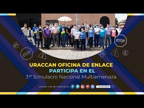 URACCAN, Oficina de Enlace, participa en el Tercer Simulacro Nacional Multiamenazas