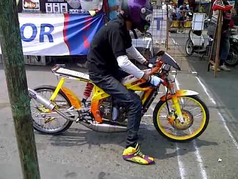 simanis ahx motor lampung. drag race 201 m 2012 wayhalim. - YouTube