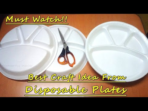 DIY Beautiful Room Decor Craft From Disposable Plates | Waste Material Craft Idea | Best Reuse Ideas