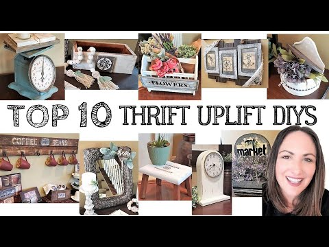 TOP 10 THRIFT UPLIFTS  NEW  EASY FARMHOUSE DIYS 2020