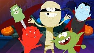 Five Little Monsters | Scary Rhymes | Halloween Song | Nursery Rhymes