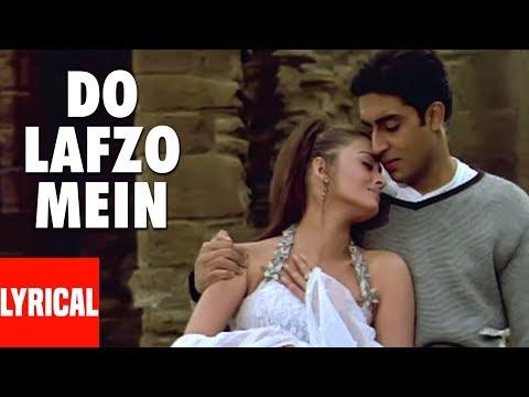 Do Lafzo Mein Lyrical Video Dhaai   Akshar Prem Ke   Aishwarya Rai, Abhishek Bacchan