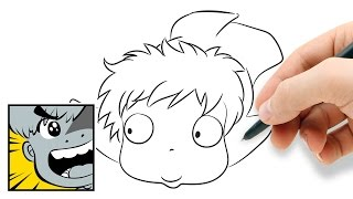 How to draw Ponyo