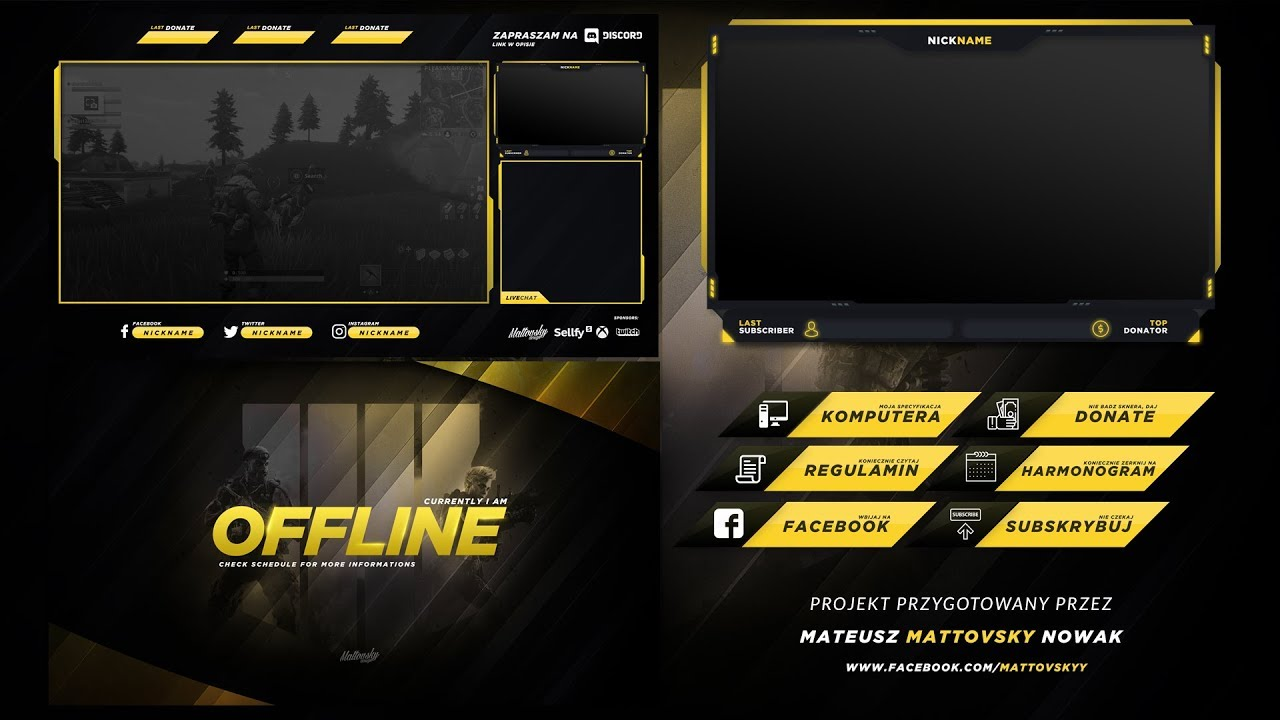 Overlay Template | Twitch Stream Overlay Template 2018 3