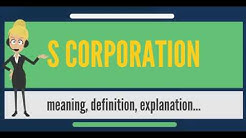What is S CORPORATION? What does S CORPORATION mean? S CORPORATION meaning, definition & explanation