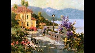 Marilyn Simandle (1946) American painter ✽ James Last / La Playa