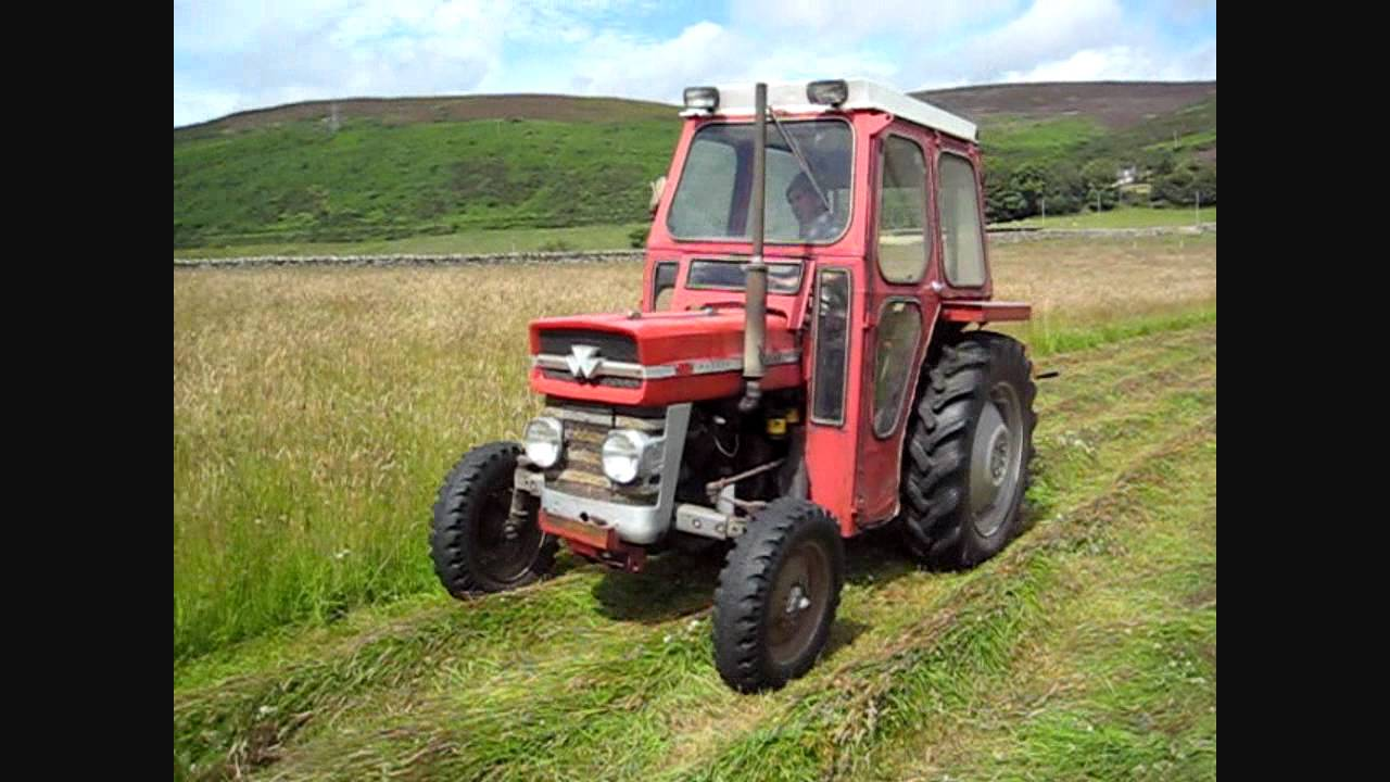 Mf 135 Amp Vicon Disc Mower Cutting Hay 2011 Youtube