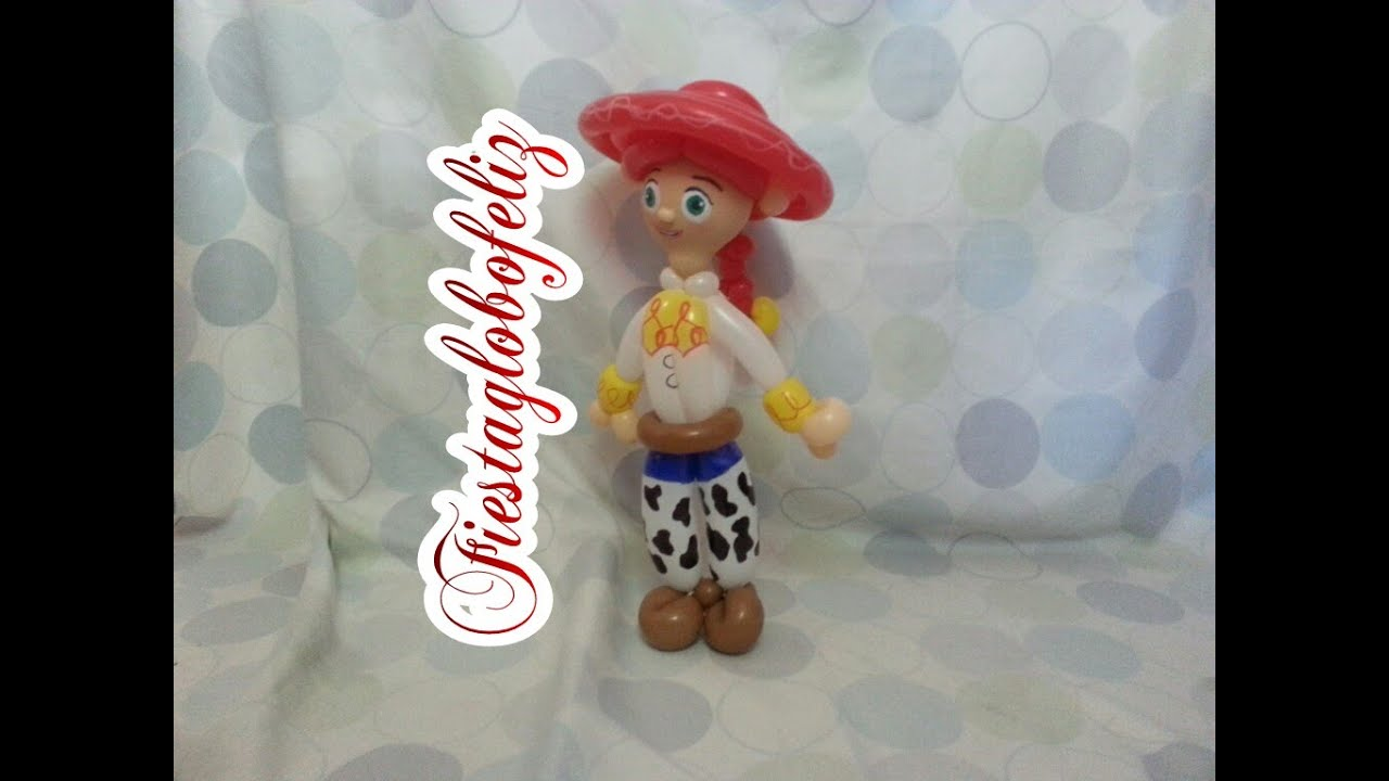 Como hacer a jessie de toy story con globos youtube - Como hacer figuras con globos ...