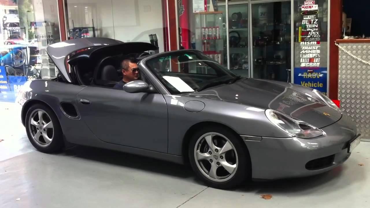 Porsche Boxter Convertible Roof Operation