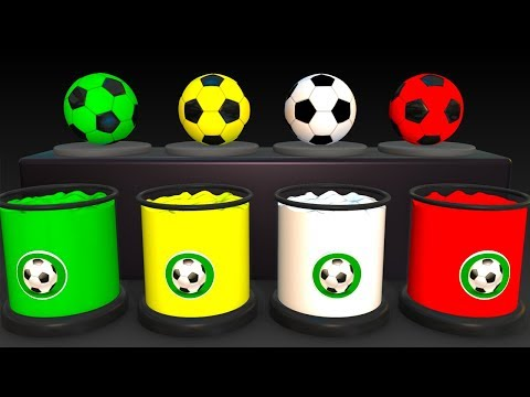 Learn Colors With Soccer Balls for Children - Colors Balloons Balls & Cars Superheroes for Kids