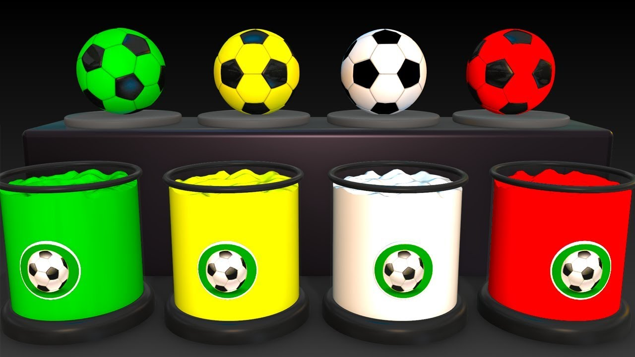 - Learn Colors With Soccer Balls For Children - Colors Balloons