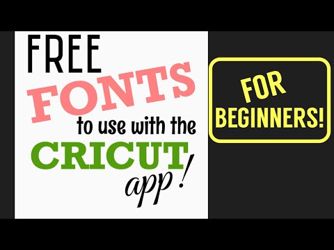 How To Get Free Fonts For Cricut On Your Phone!
