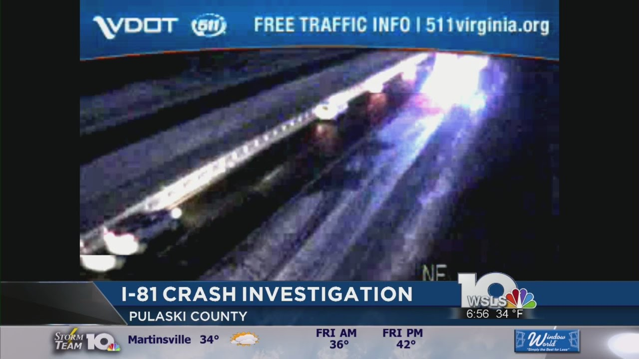 Road conditions cause accident on I-81 in Pulaski County