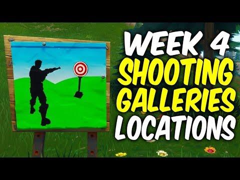 Fortnite Week 4 Challenges Guide.Shooting Galleries Locations