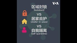区域封锁 vs 居家庇护 vs 自我隔离