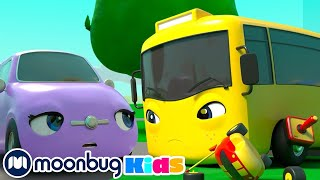 A Remote Control Car - Sharing is Caring - Go Buster   Kids Cartoons & Nursery Rhymes   Moonbug Kids