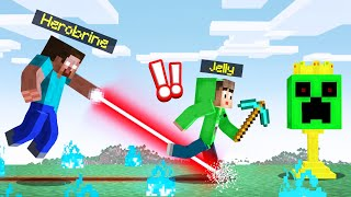 HEROBRINE vs. SPEEDRUNNER MANHUNT In MINECRAFT!
