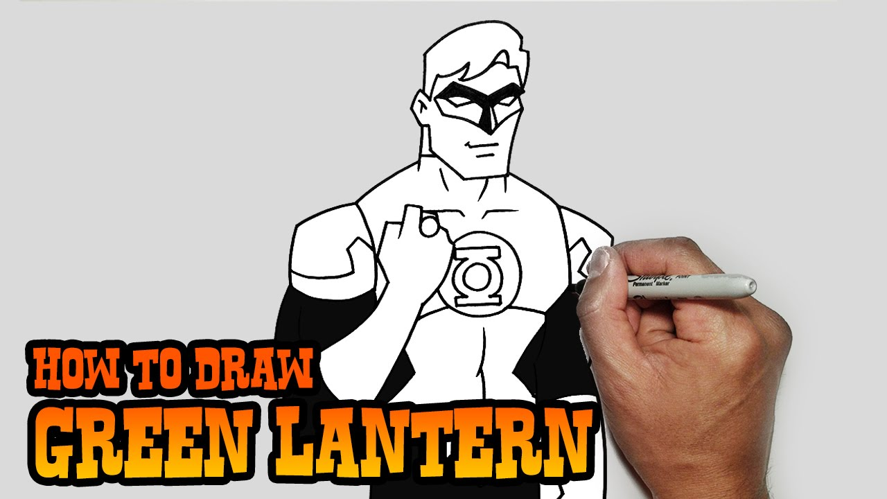 how to draw green lantern young justice video lesson youtube