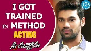 I Got Trained In Method Acting - Bellamkonda Sreenivas || Speedunodu Movie