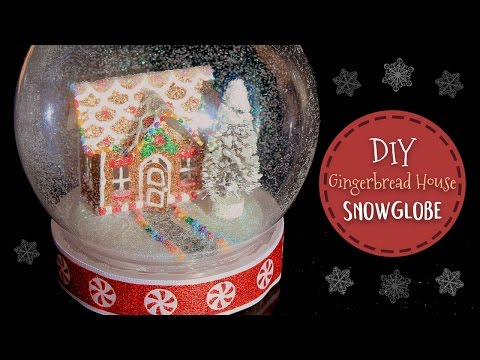 DIY Snow Globe (No Water) - Mini Gingerbread House 🍬  Craftmas