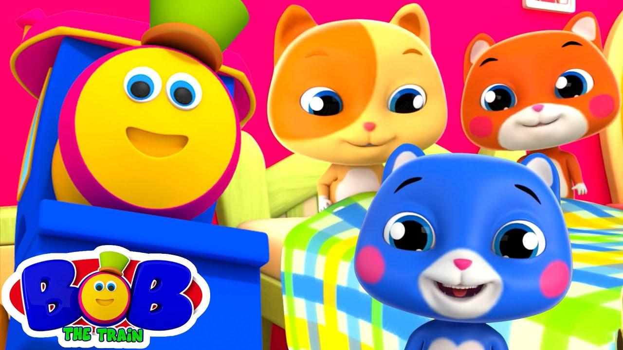 ลูกแมวน้อยสามตัว | บทกวีสำหรับเด็ก | วิดีโอก่อนวัยเรียน | Bob The Train Thailand | เพลงเด็กอนุบา