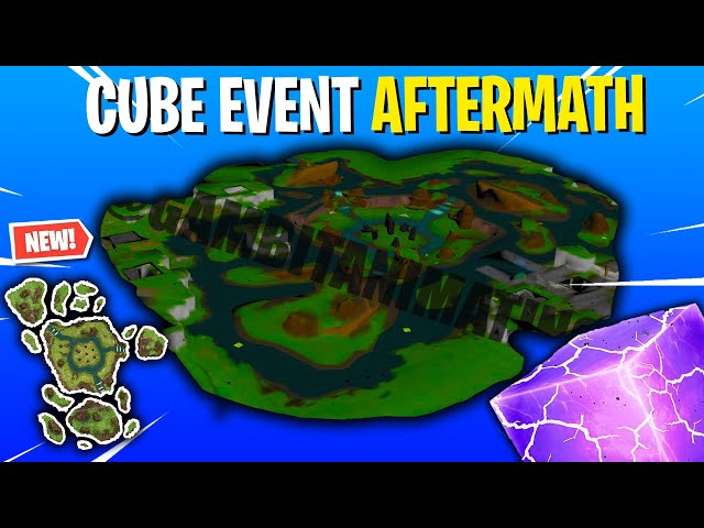 The AFTERMATH OF THE CUBE EVENT In Fortnite! (Leaked Loot Lake V2)