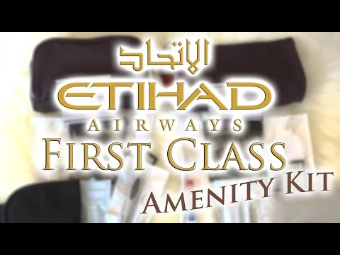 Etihad Airways Limited Edition Amenity Travel Kits (First Class)