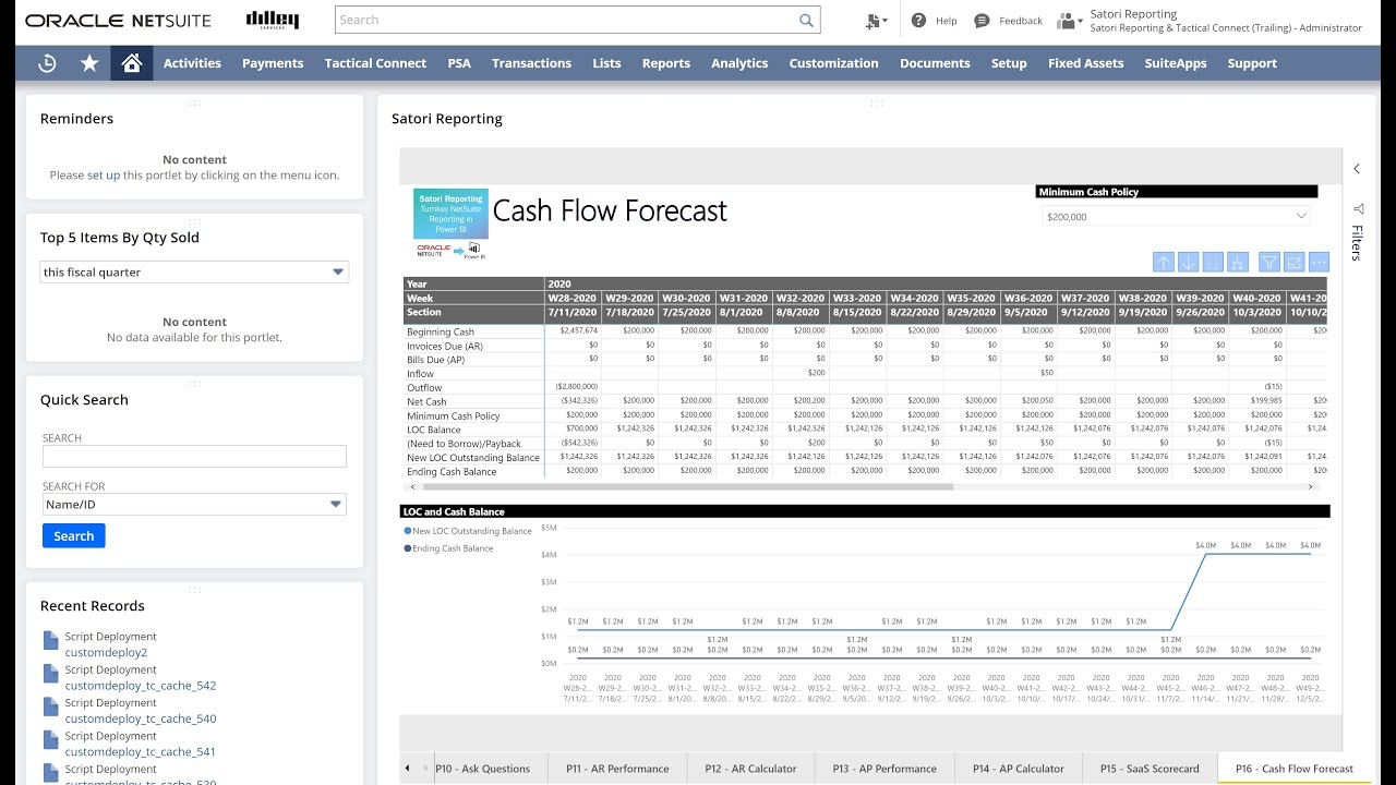 New Feature Release - Cash Flow Forecasting Model (July 2020)