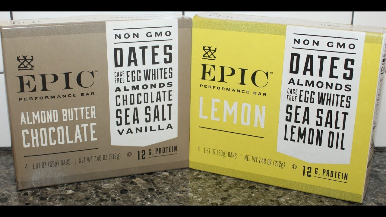 Epic Performance Bar Almond Butter Chocolate Lemon Review Youtube