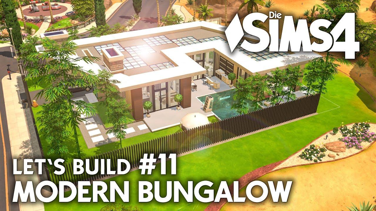 Haus bauen modern bungalow  Garderobe & Whirlpool | Die Sims 4 Haus bauen | Modern Bungalow ...