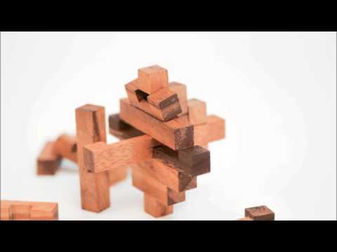 Wooden Crystal Puzzle (Interlock) solution