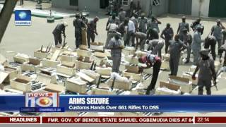 Arms Seizure: Customs Hands Over 661 Rifles To DSS(For more information log on to http://www.channelstv.com., 2017-03-10T22:19:38.000Z)