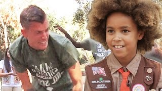 Men Try To Earn Girl Scout Badges