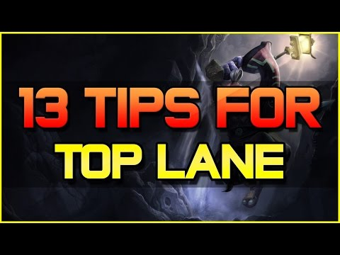 ✔ TOP GUIDE - 13 TIPS TO HELP IMPROVE AS A TOP + LANE MANAGEMENT | League of Legends | Season 4
